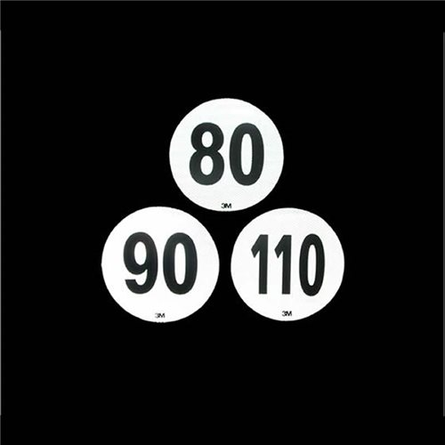 Logo 80 km Blanco 3M 22 cm Diametro